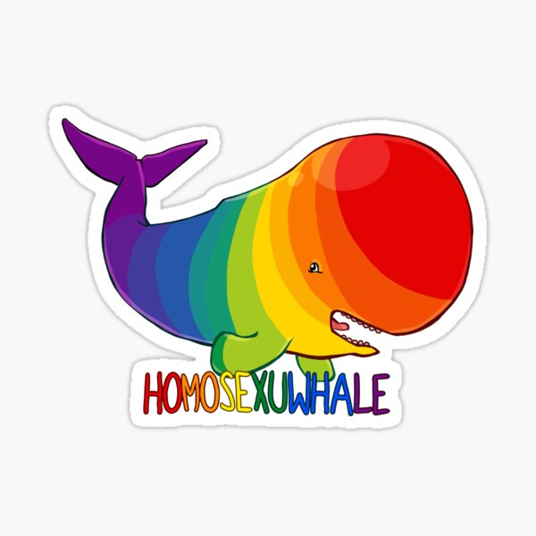 Homosexuwhale - with text Sticker