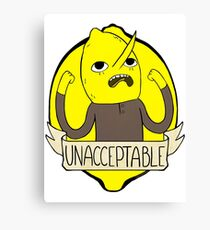 UNACCEPTABLE Canvas Print