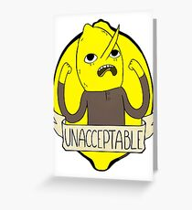 UNACCEPTABLE Greeting Card