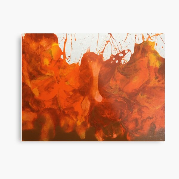 Dynamic Fire Metal Print