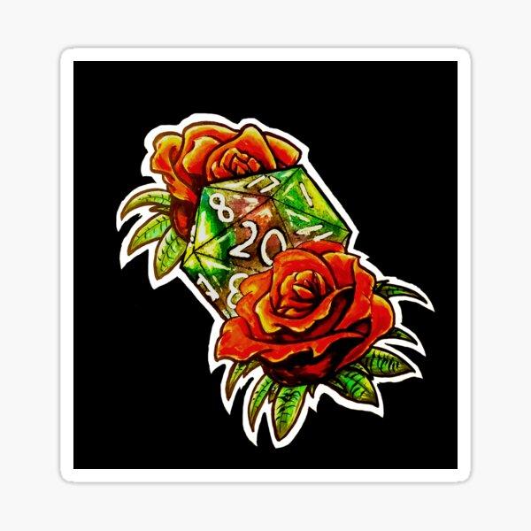 Tattoo Rose D20 Sticker