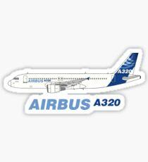 Airbus A320 Abbildung Sticker