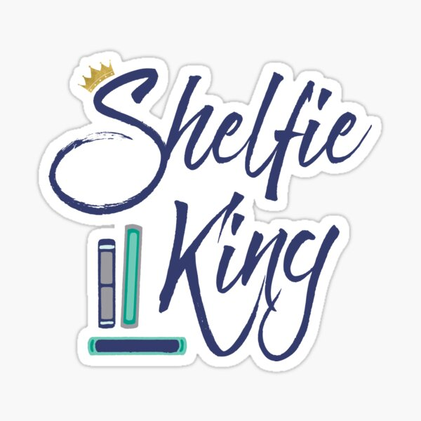 Booklover Shelfie King Sticker