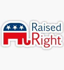 Republican - Raised Right Sticker