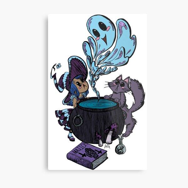 Halloween Themed Potion Pals Metal Print