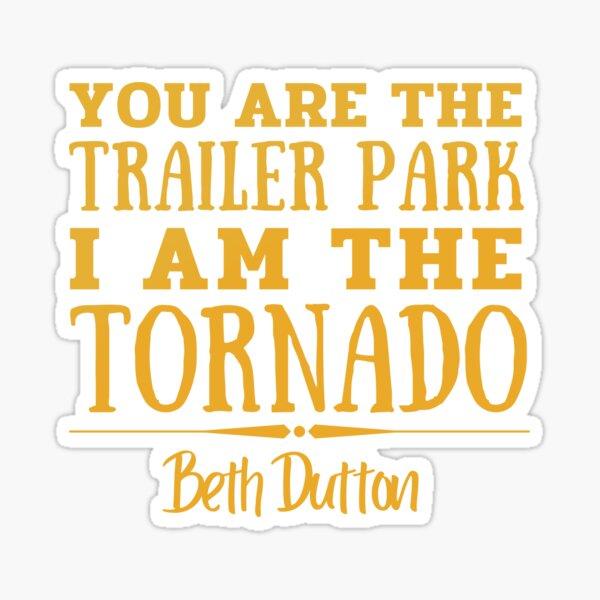 You are the trailer park, I am the tornado.  Sticker