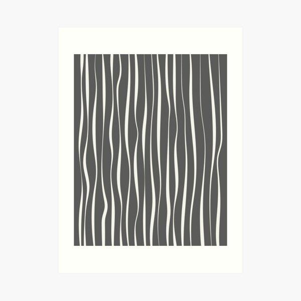 Abstract Minimal Wavy Lines Art Print