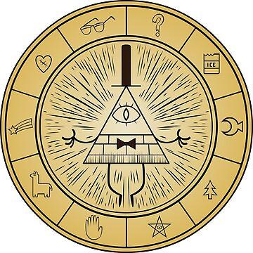 Gravity Falls Bill Cipher Wheel by emdizio