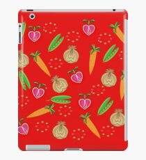 Retro Fruit Vegetables Illustration iPad Case/Skin