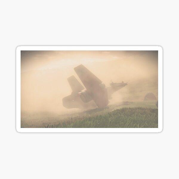 Stormy Landing Sticker