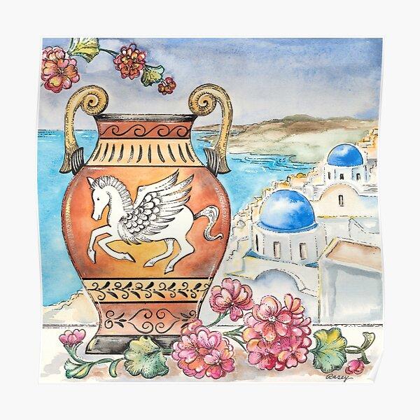 Pegasus In Greece Poster
