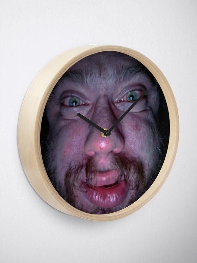 """Sam Hyde Face Meme "" Clock by Merch-On | Redbubble"