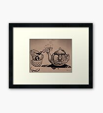 Wacky Tea Party Framed Print