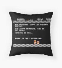 Nihilist Mario Throw Pillow
