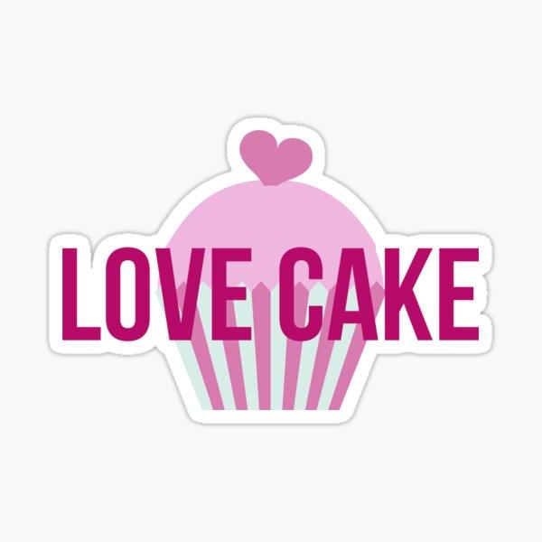 Love Cake cupcake image Sticker