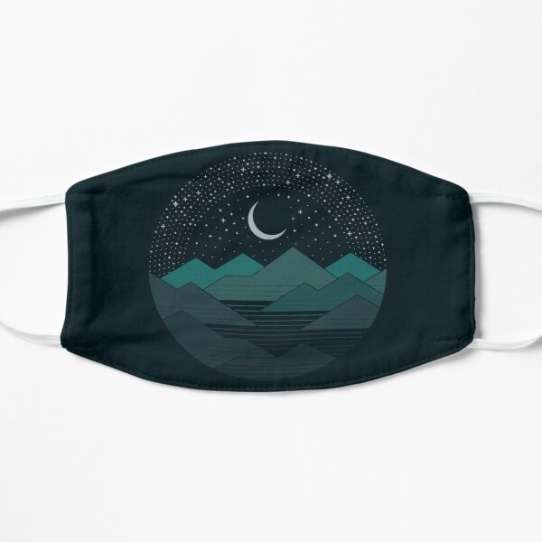 Between The Mountains And The Stars Flat Mask