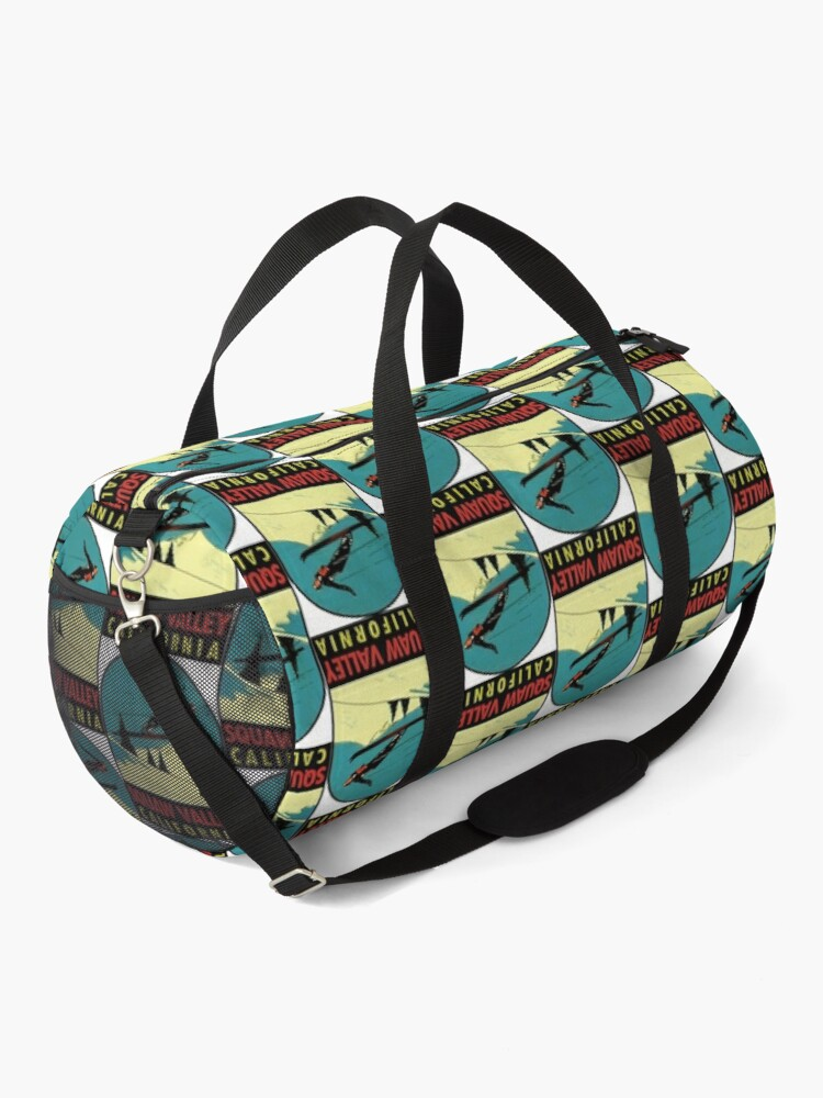 Alternate view of Squaw Valley Skiing California Vintage Travel Decal Duffle Bag