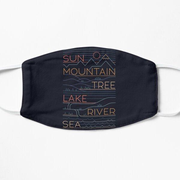 Sun, Mountain, Tree Flat Mask