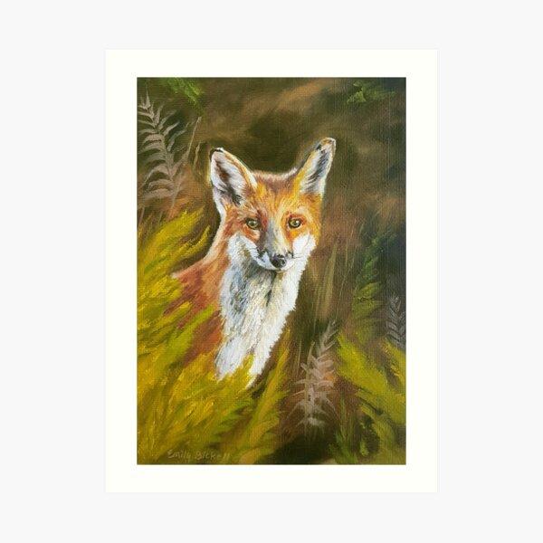 Vixen - fox painting Art Print
