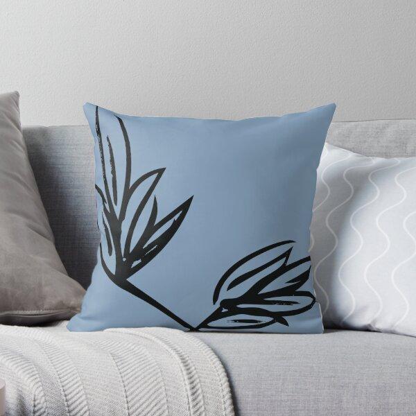 Sky Blue Flower Throw Pillow
