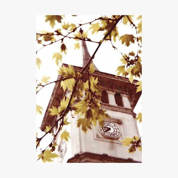 Color Vintage Bursa Clock Tower in Turkiye 1978 Photographic Print