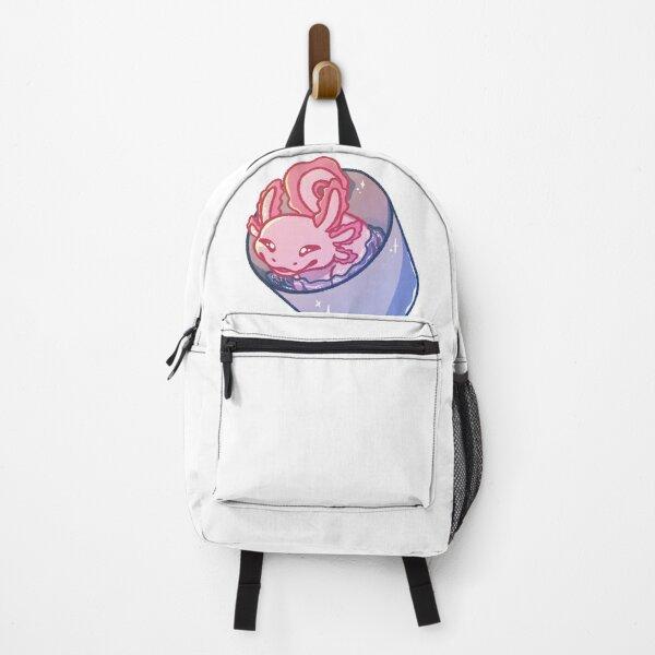 Axolotl in a Bucket Backpack