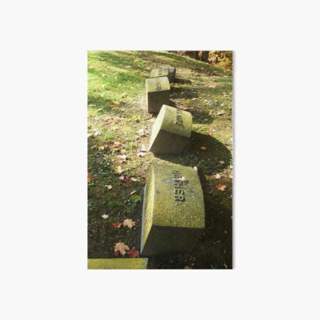 Family Plot, Tombstone Photography, Fall Cemetery by Courtney Hatcher Art Board Print