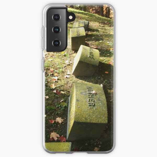 Family Plot, Tombstone Photography, Fall Cemetery by Courtney Hatcher Samsung Galaxy Soft Case