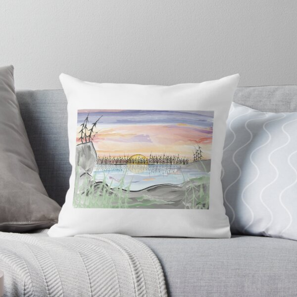 Boundary Waters Sunset Throw Pillow