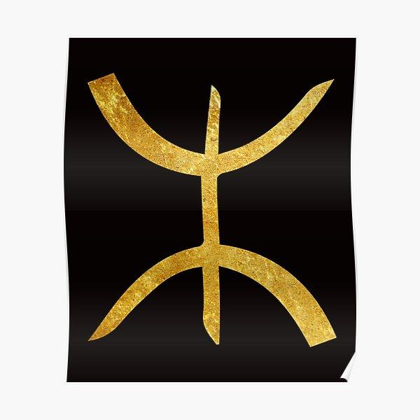 Symbole Amazigh Or Poster