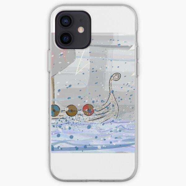 Viking Longship On Stormy Seas iPhone Soft Case