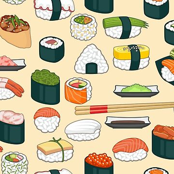 Sushi Seamless Background by Netopir