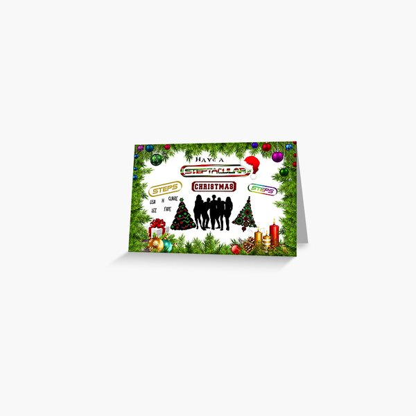 Steps Christmas Card Greeting Card