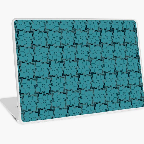 Lots of Open Books Pattern Black and White Laptop Skin