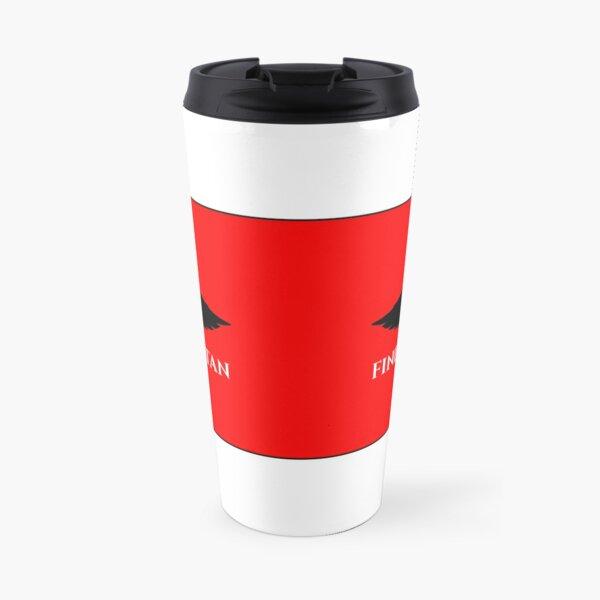 Finding Satan Logo Red Wrap Around Travel Mug