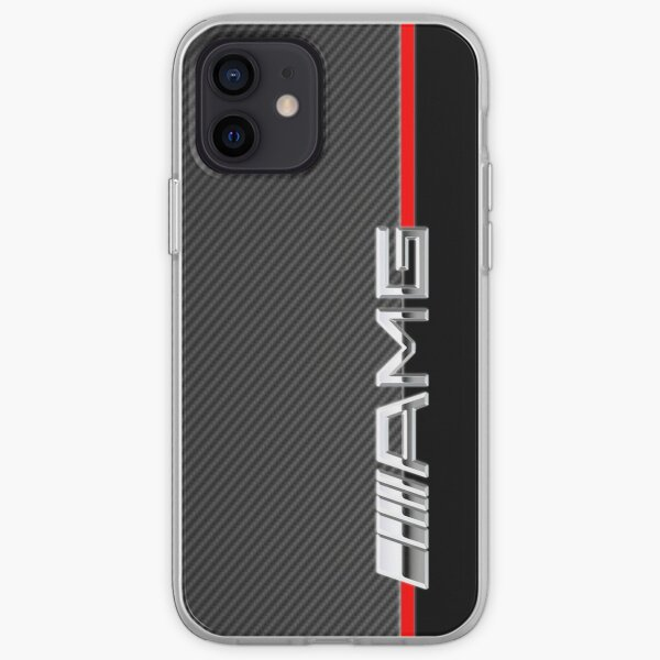 mercedes benz amg logo carbone Coque souple iPhone