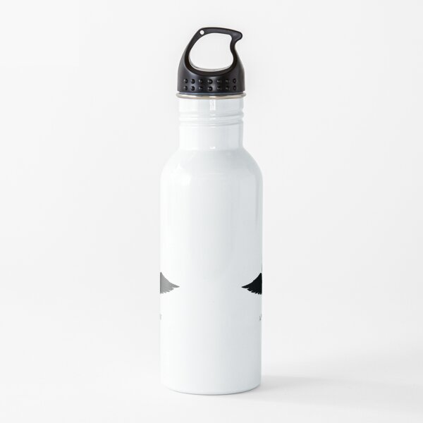 Finding Satan Logo White Wrap Around Water Bottle