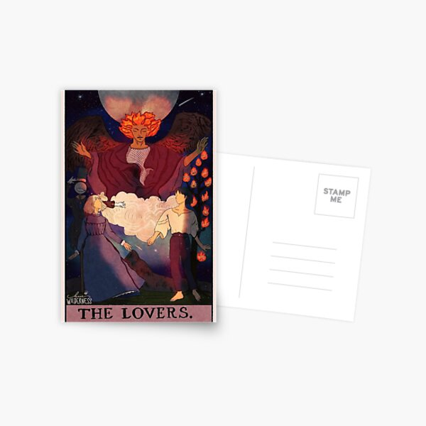 Howls Moving Castle Lovers Tarot Carte postale