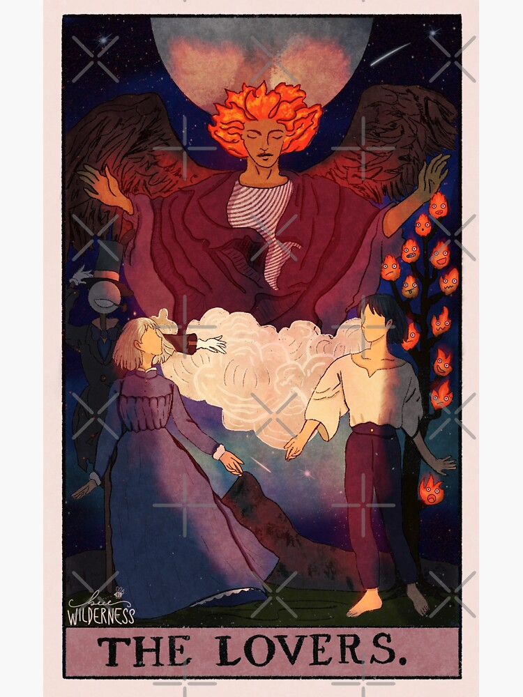 Howls Moving Castle Lovers Tarot  by Beeewilderness