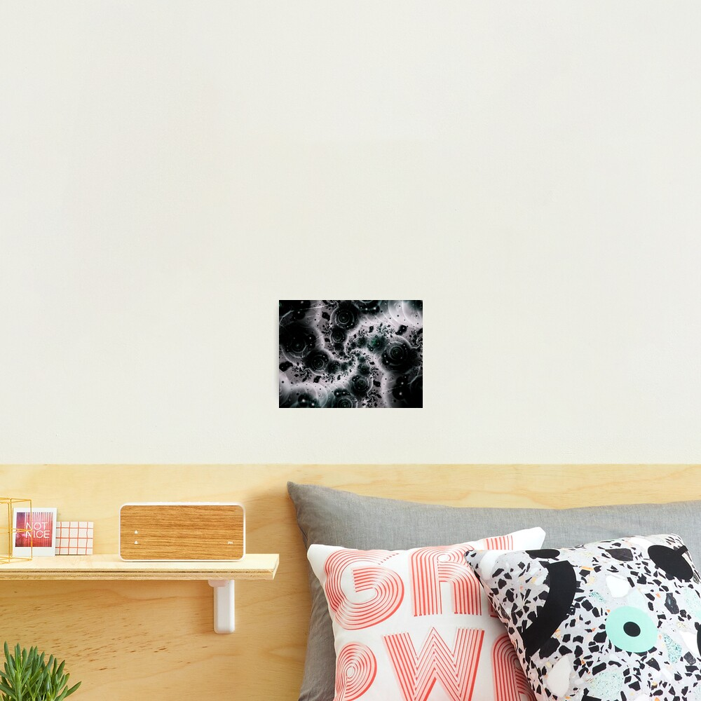 White Spiral Futuristic Art Photographic Print