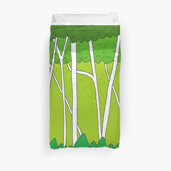 Peaceful Birch Forest Duvet Cover