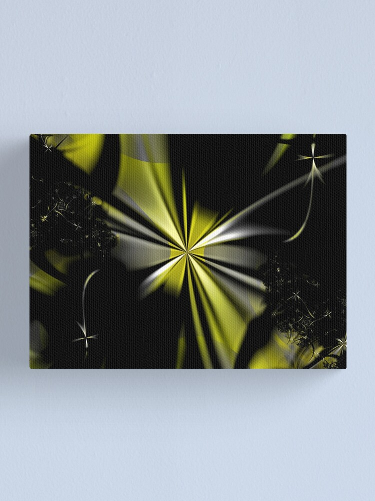 Alternate view of Yellow Flower Abstract Canvas Print