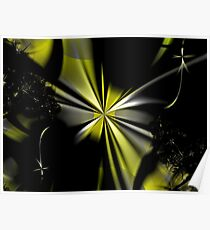 Yellow Flower Abstract Poster