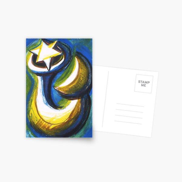 Pesce Luna Stelle Postcard
