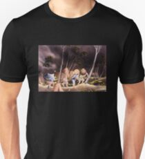 'Peasants Surprised by a Violent Storm' by Katsushika Hokusai (Reproduction) T-Shirt