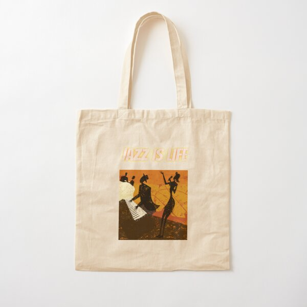 JAZZ IS LIFE Cotton Tote Bag