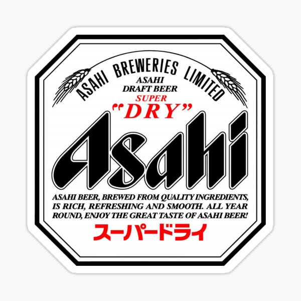 Asahi Super Dry logo Sticker