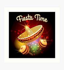 fiesta time theme Art Print