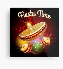 fiesta time theme Metal Print
