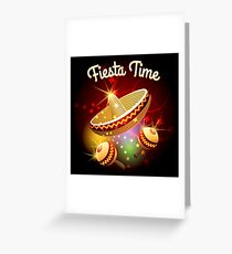 fiesta time theme Greeting Card